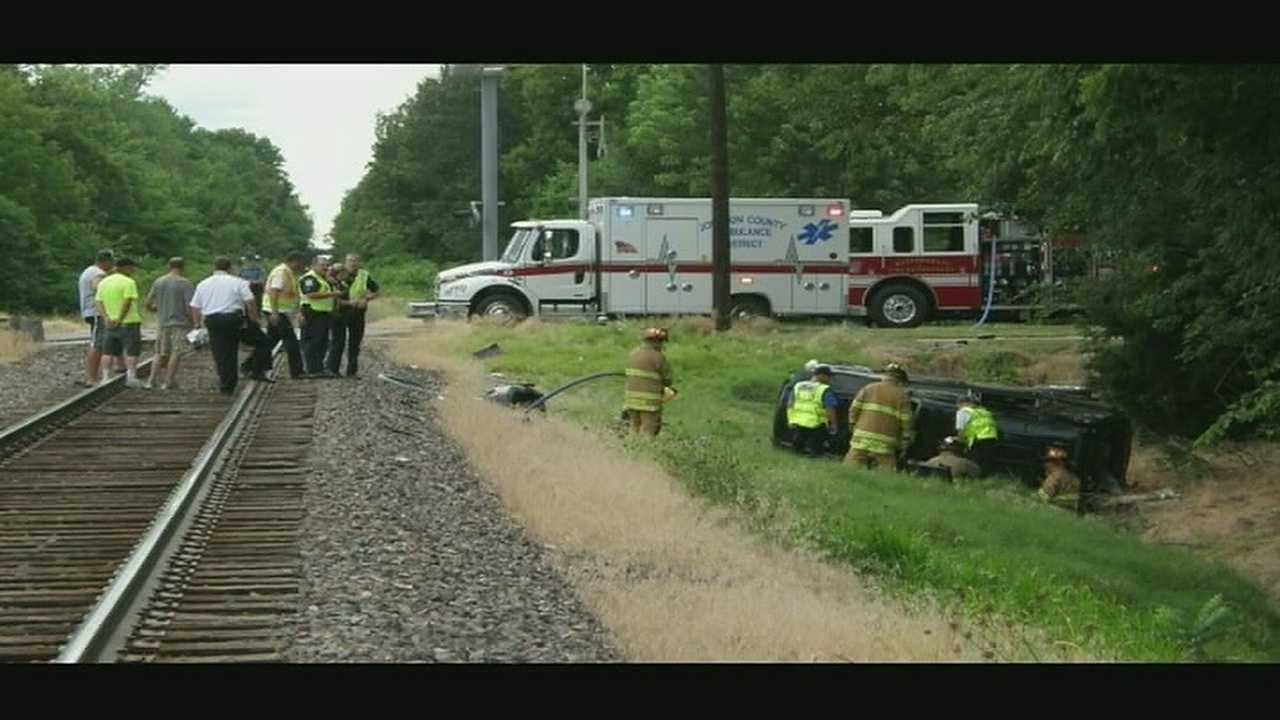 A woman and her granddaughter were seriously injured when the SUV they were in was hit by an Amtrak train in Warrensburg late Sunday afternoon.