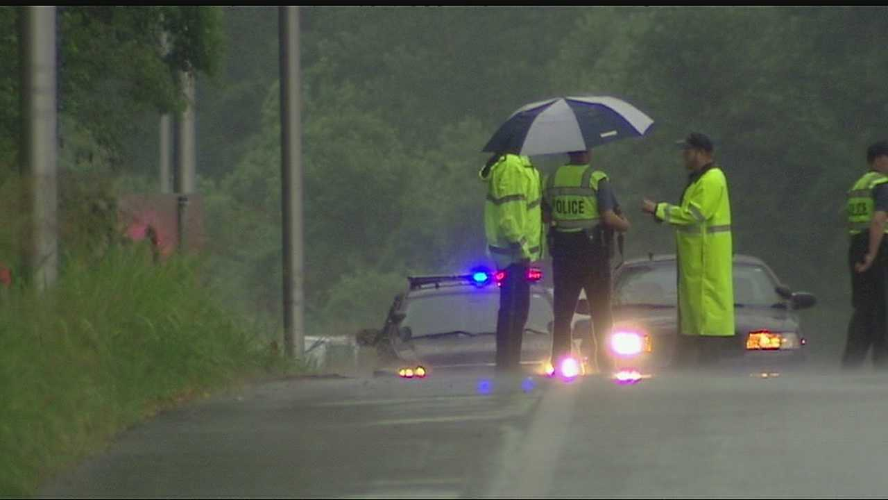 Image Hit and run crash scene along Highway 210