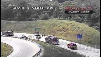 Rollover crash on I-635, State Avenue