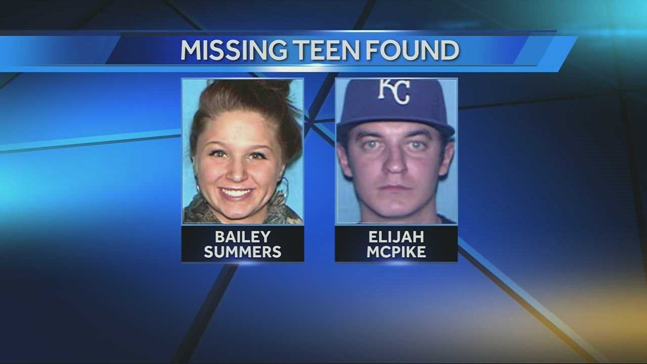 Missing teen found, Bailey Summers