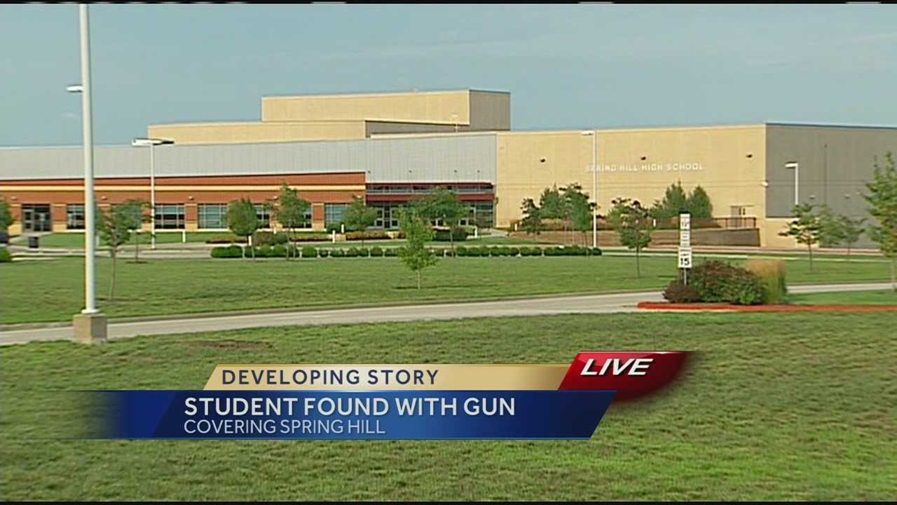 Handgun found in student's backpack outside Spring Hill High