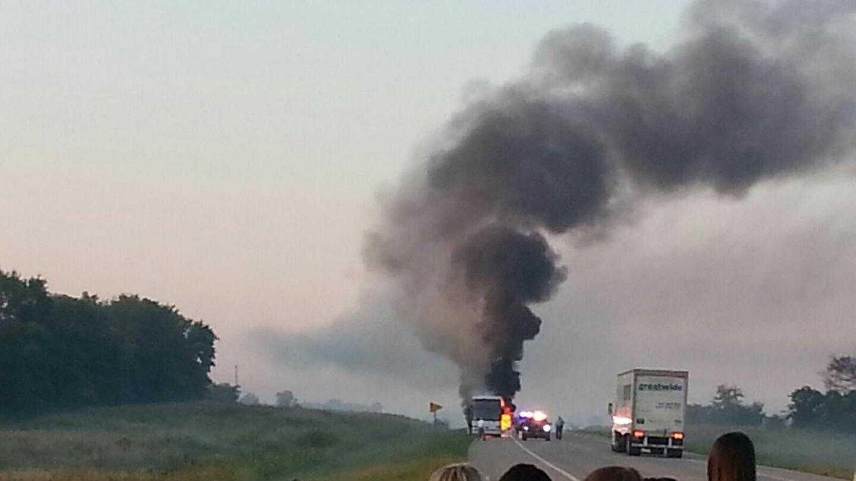 PSU bus fire