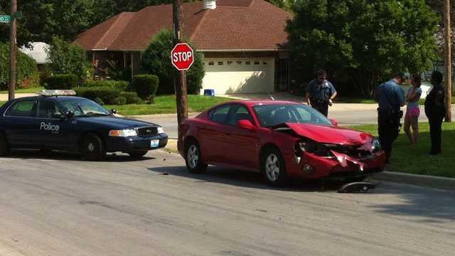 Image Crashed car near 73rd and Cleveland