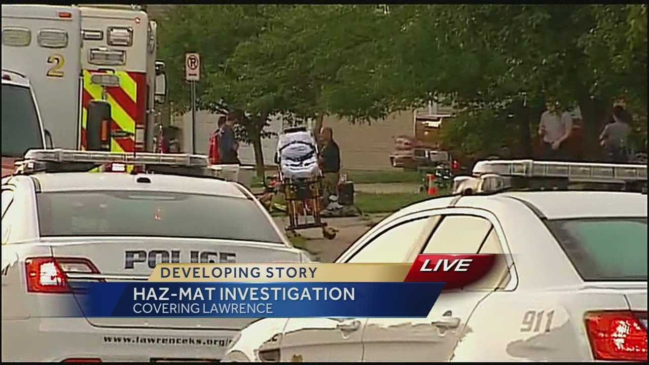 Hazmat investigation at 2500 Crestline Court