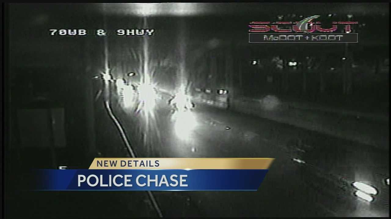Overnight police chase on I-70 caught on camera