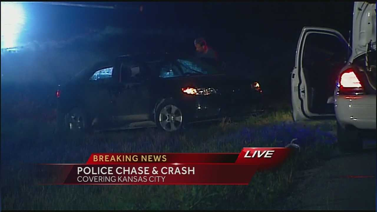 Image Police chase ends in crash