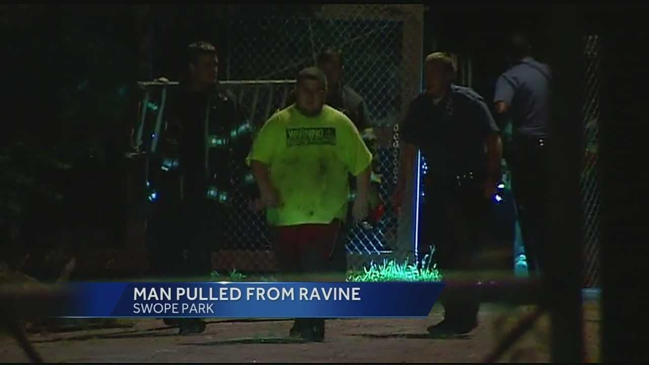 Man pulled from ravine, Swope Park