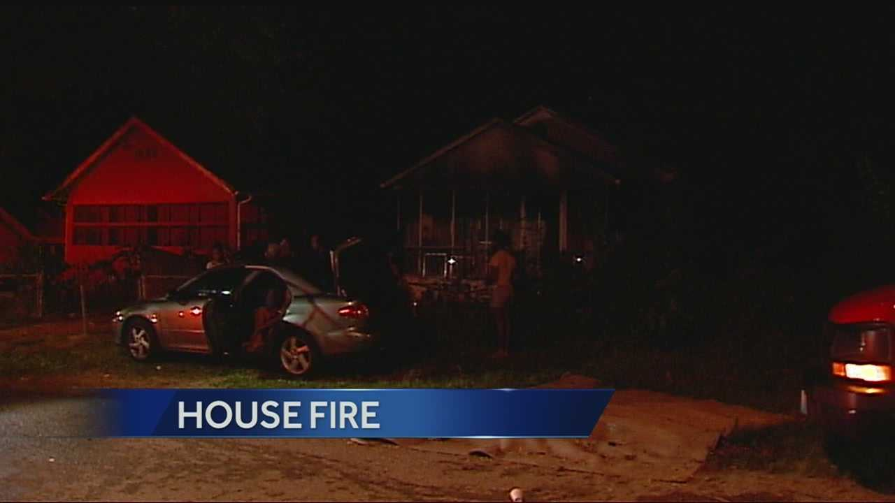 House fire, 8100 Olive