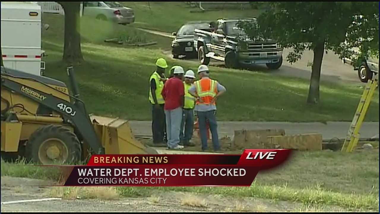Image Water Department employee injured