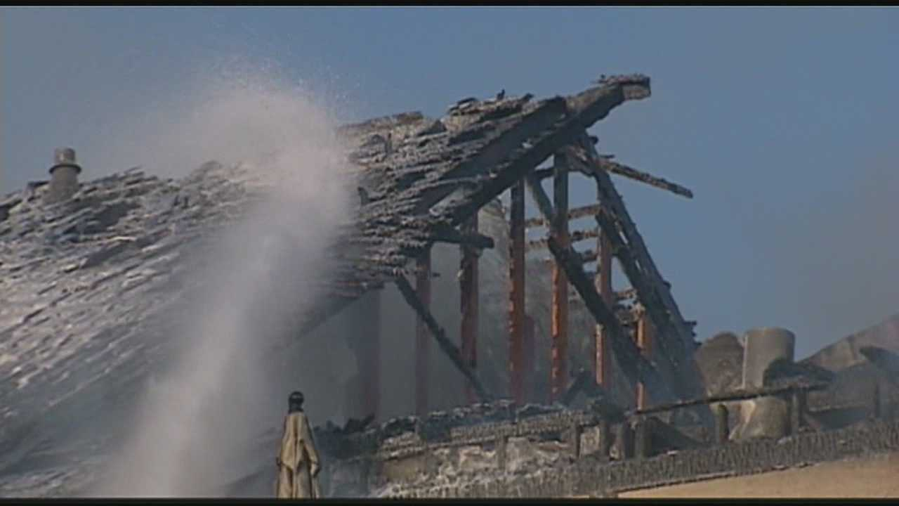 A two-alarm fire Sunday afternoon caused heavy damage to an Overland Park home.