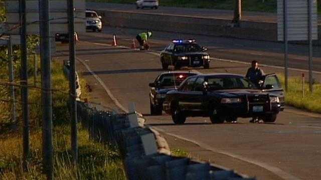 Interstate 49, pedestrian hit