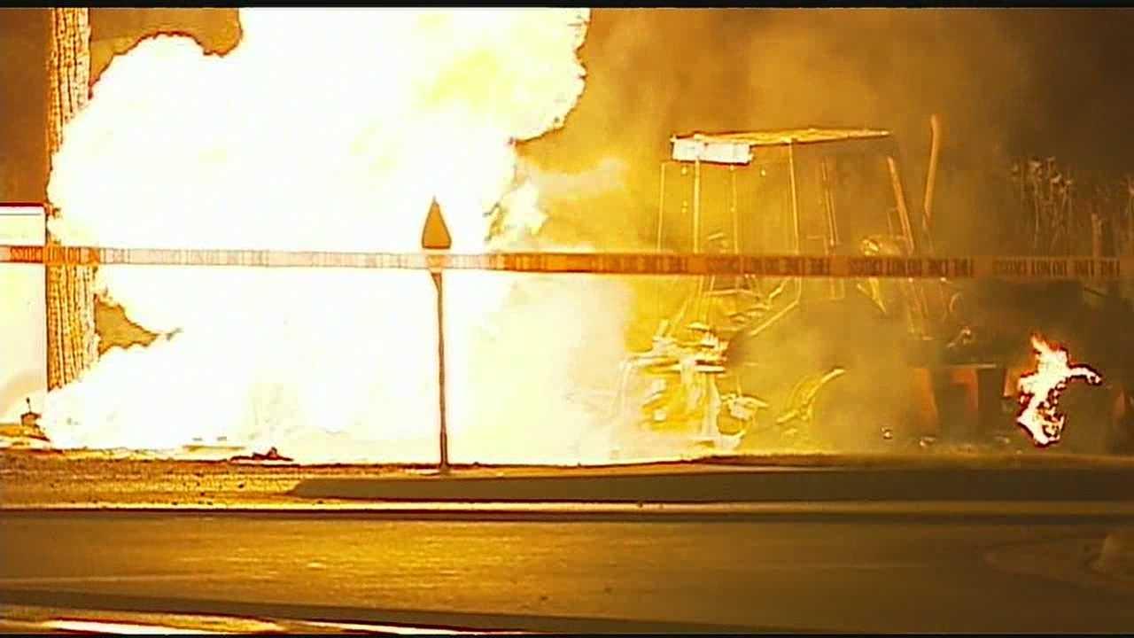 Overland Park gas line fire, 151st, Switzer