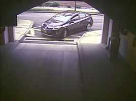 Alexis' rental car enters Washington Navy Yard Parking Garage #28 at 7:53 a.m. on September 16, 2013. (FBI)