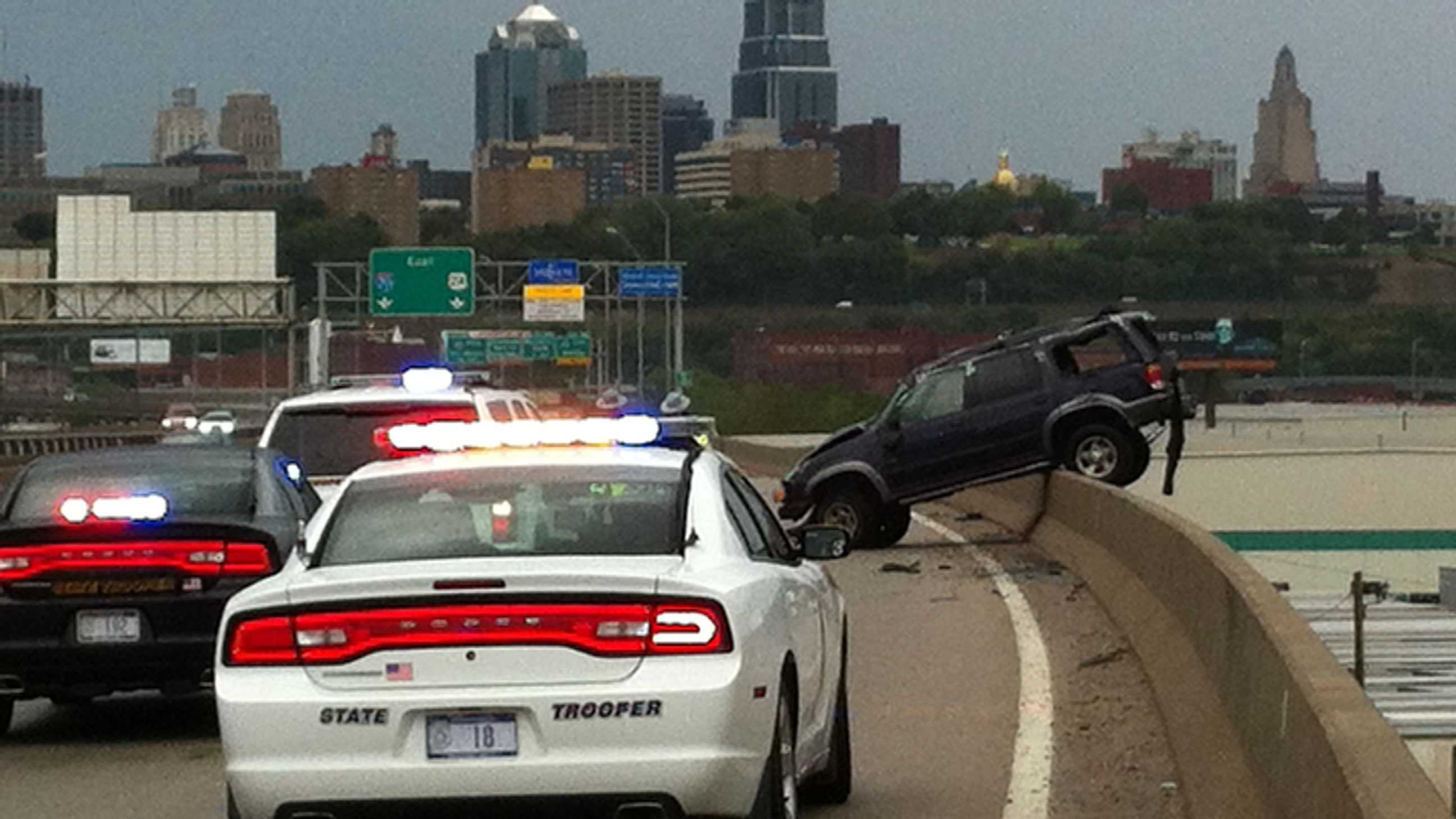 I-70, James Street wreck