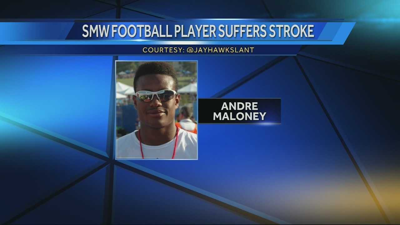 High school star football player suffers stroke after scoring touchdown