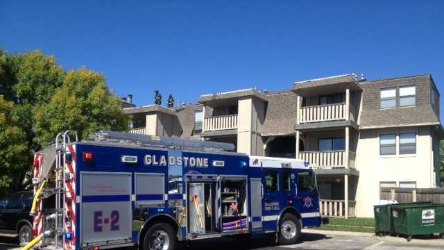 Gladstone apartment building evacuated after fire