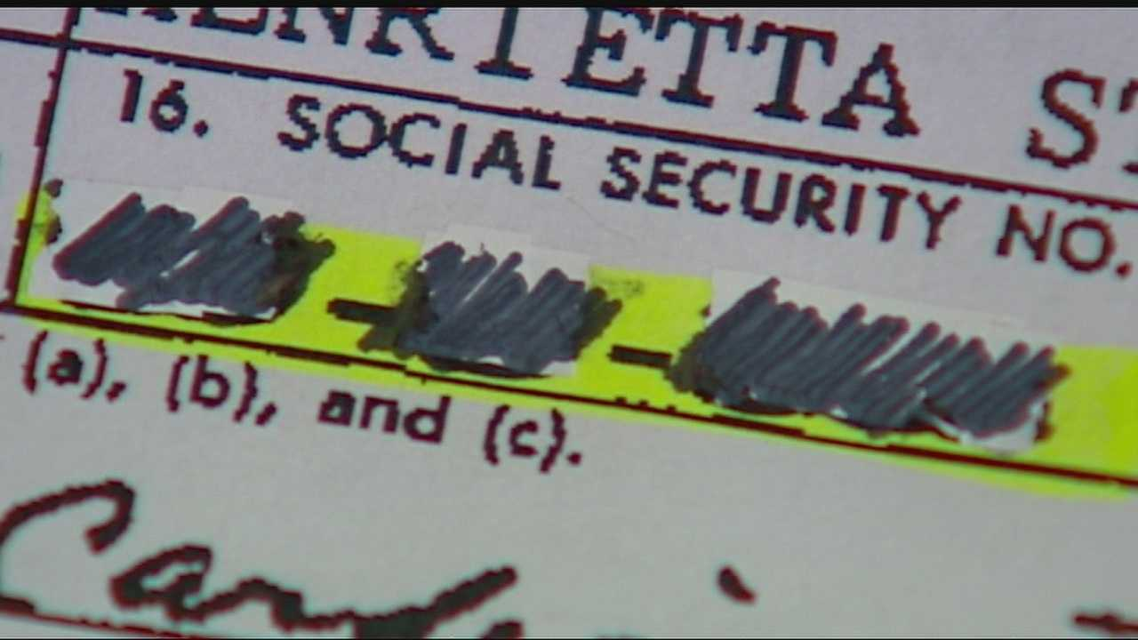 Image Redacted Social Security number on document