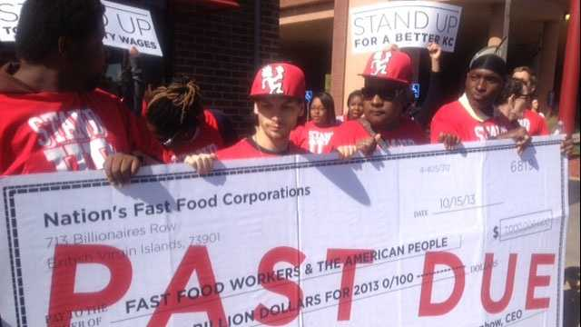 Image Fast food wage protest