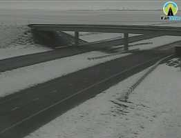 Snow in Colby, Kansas, along I-70.