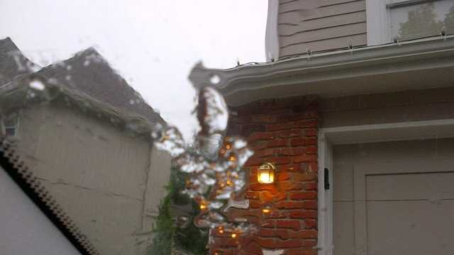 u Local sleet picture from Oct. 18
