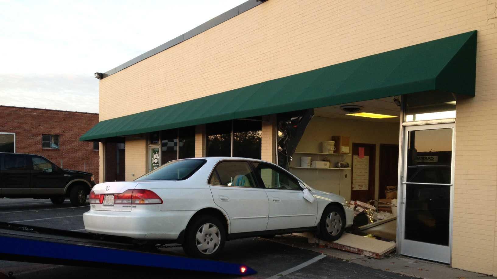 car into NKC bakery