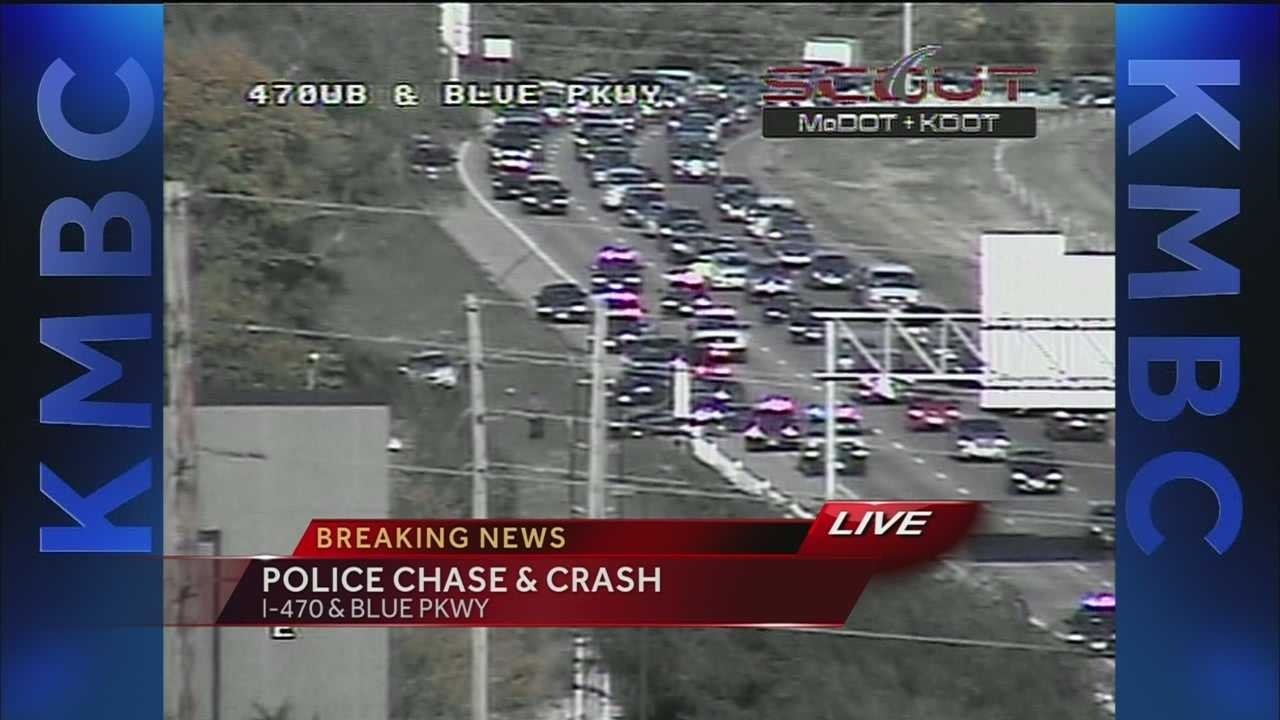 Chase ends on I-470 in Lee's Summit