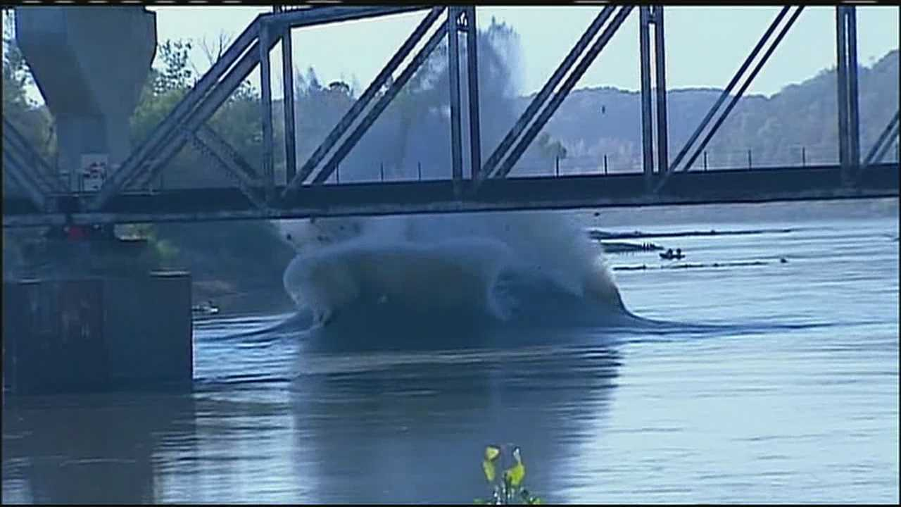 Final explosion at Amelia Earhart bridge