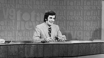 A classic image of KMBC 9 News Anchor Larry Moore on the KMBC 9 News set.