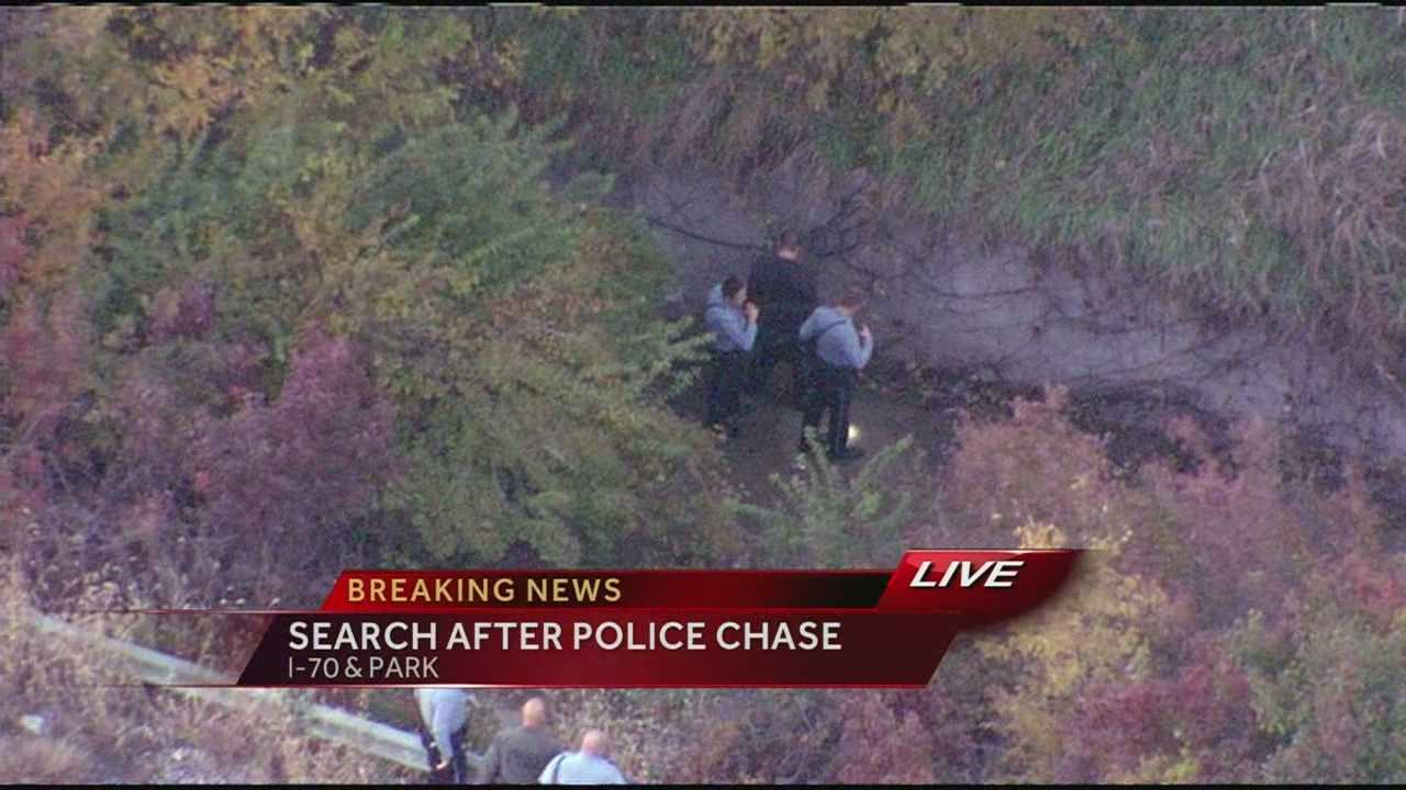 Image Man arrested after chase into KCK