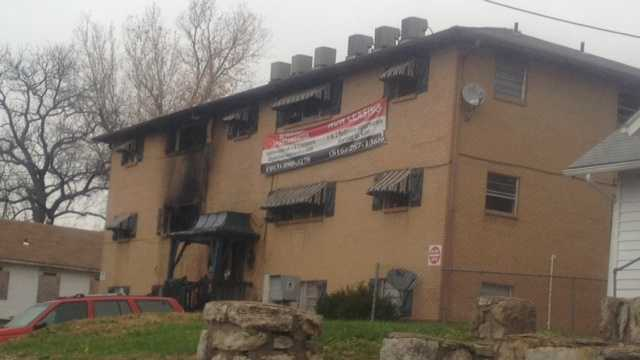 Apartment fire at 41st Street and Mission Road