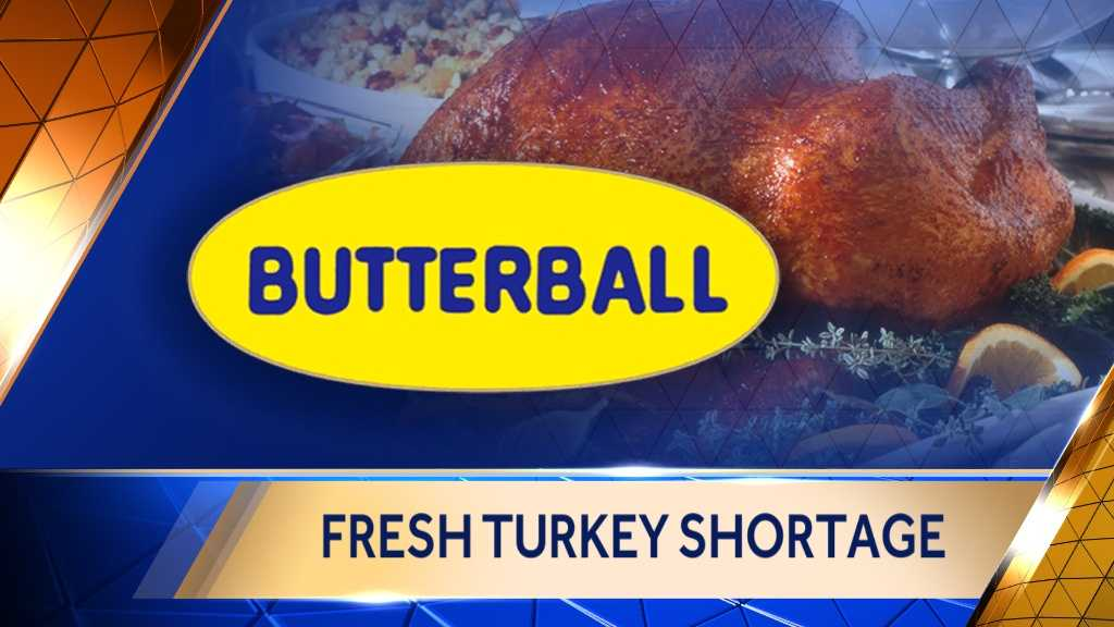 Image Fresh turkey shortage with Butterball logo