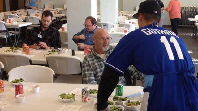 Image Guthrie serves food