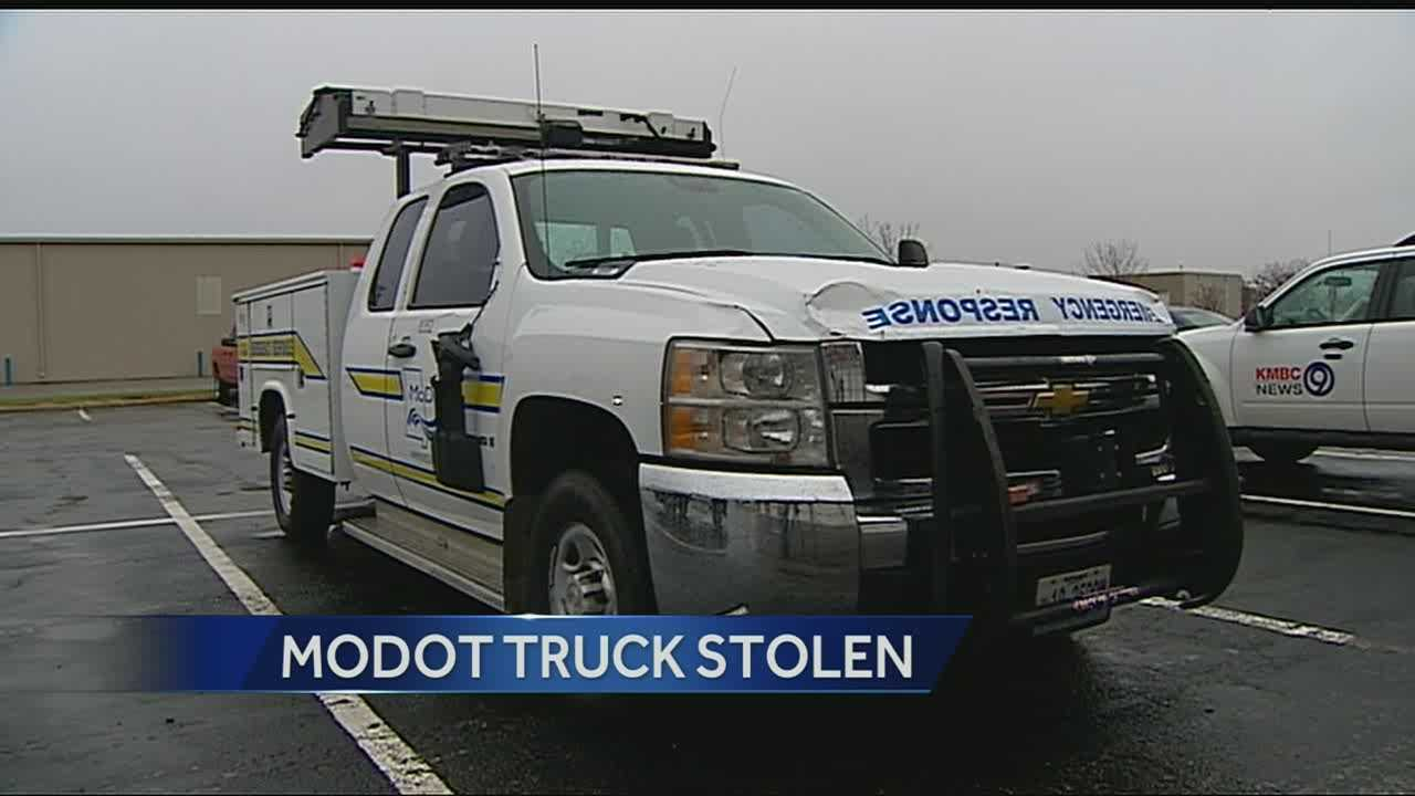 Image Stolen MoDOT truck recovered