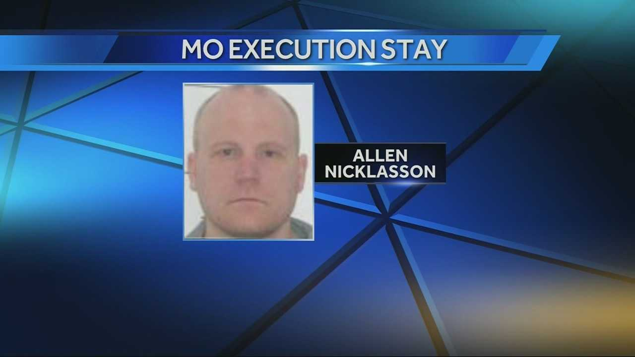 Allen Nicklasson execution stayed