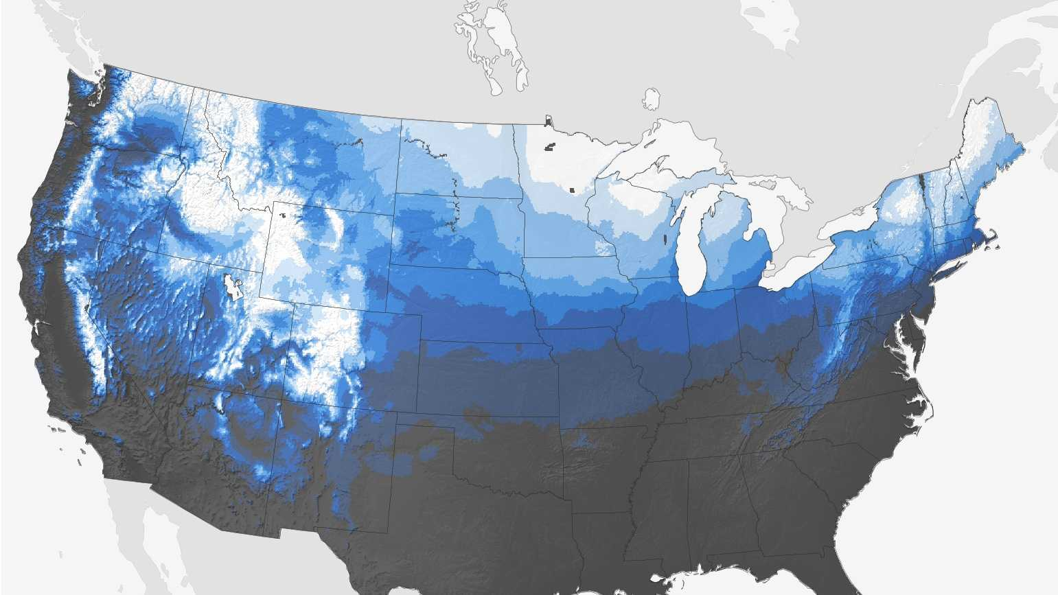 White Christmas map from NOAA