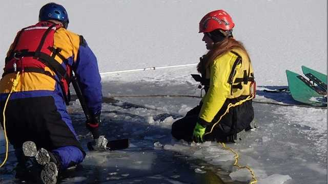 Image Horses die after falling through ice