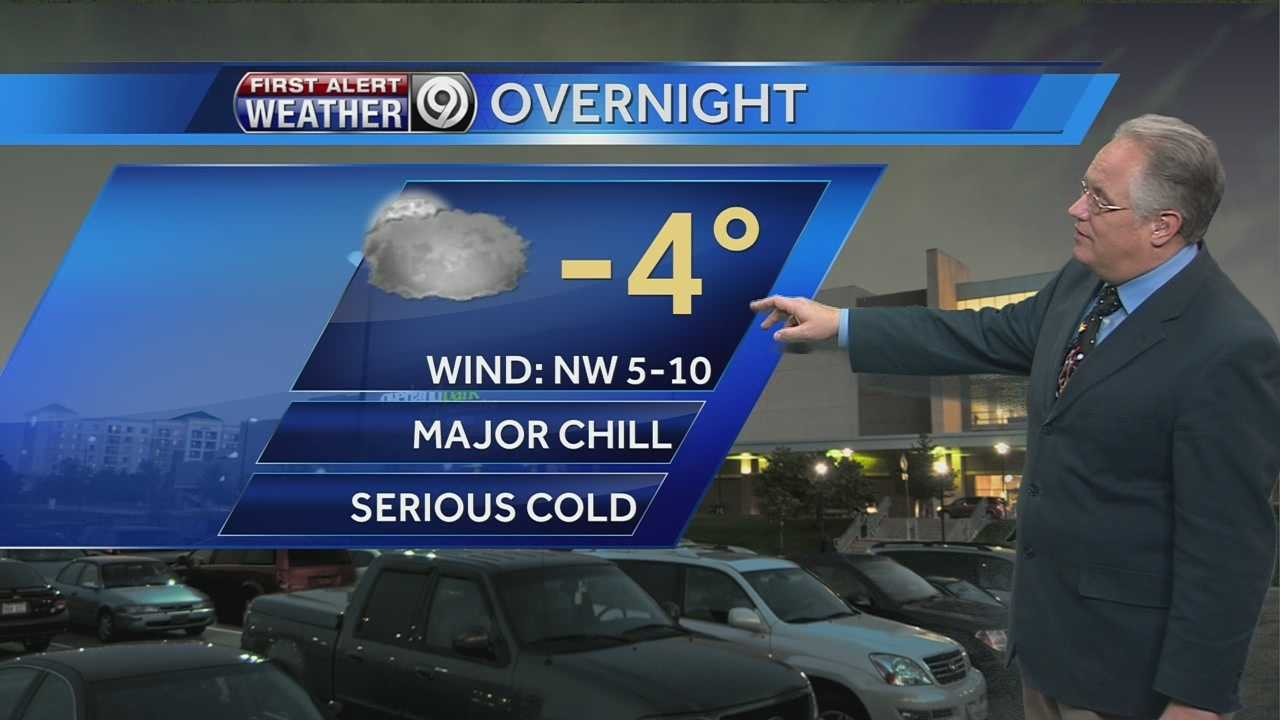 KMBC's Joel Nichols tells us how cold it will get Monday night into Tuesday morning.