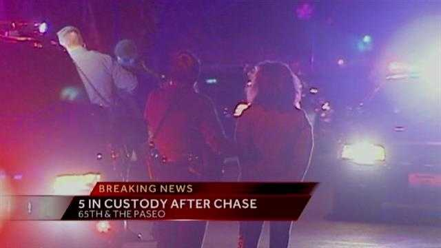 5 in custody after police chase in Kansas City, Mo.