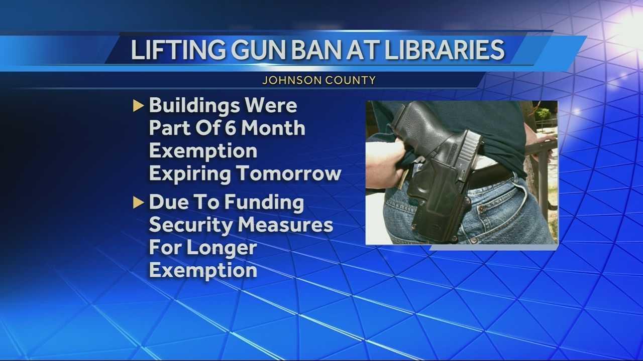 Johnson County Library gun ban lifted