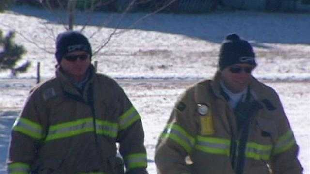 Image Firefighters in cold weather gear