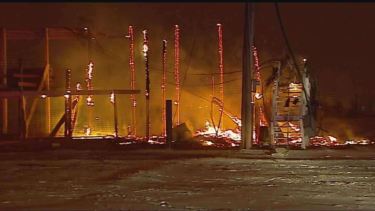 Image Benjamin Ranch grandstand fire