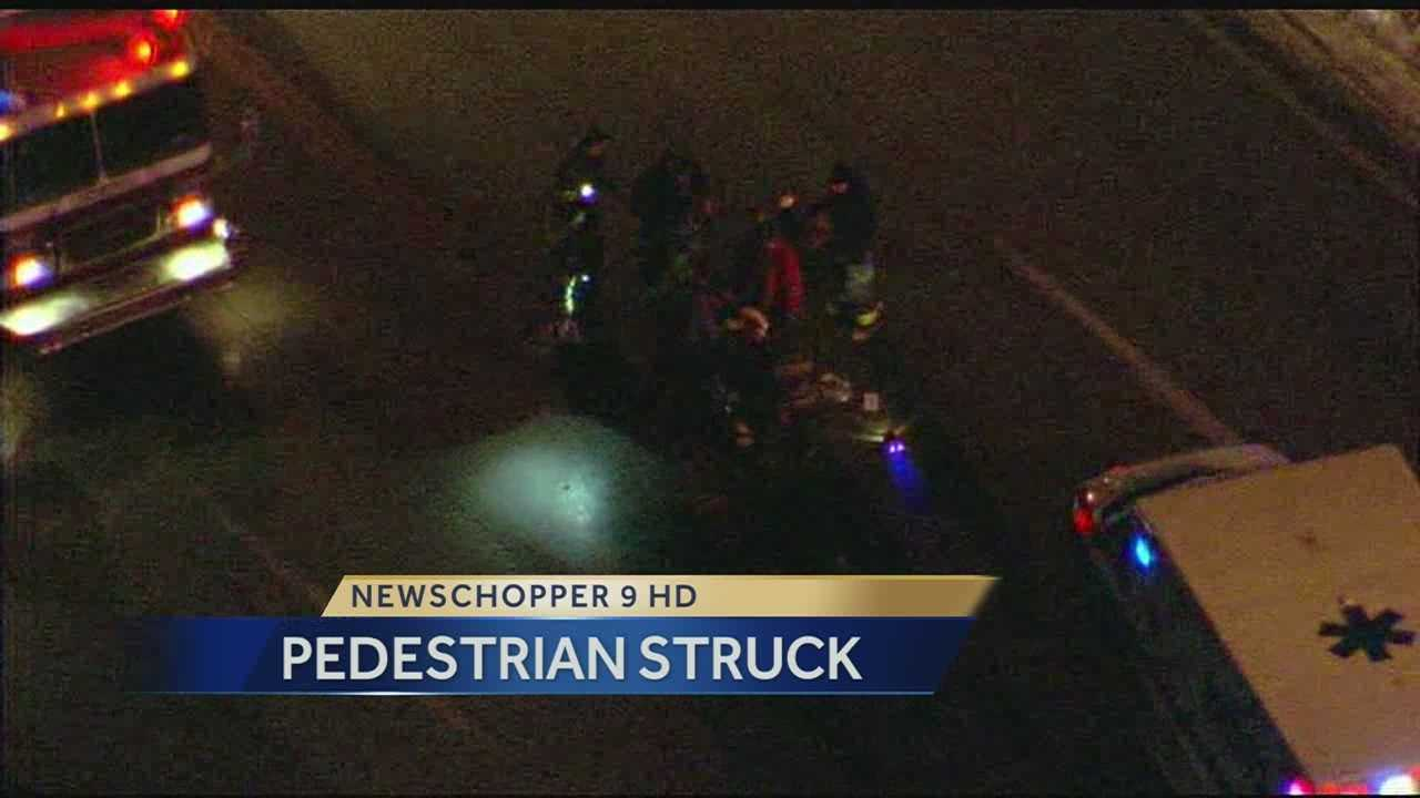 Pedestrian seriously hurt after being hit by car