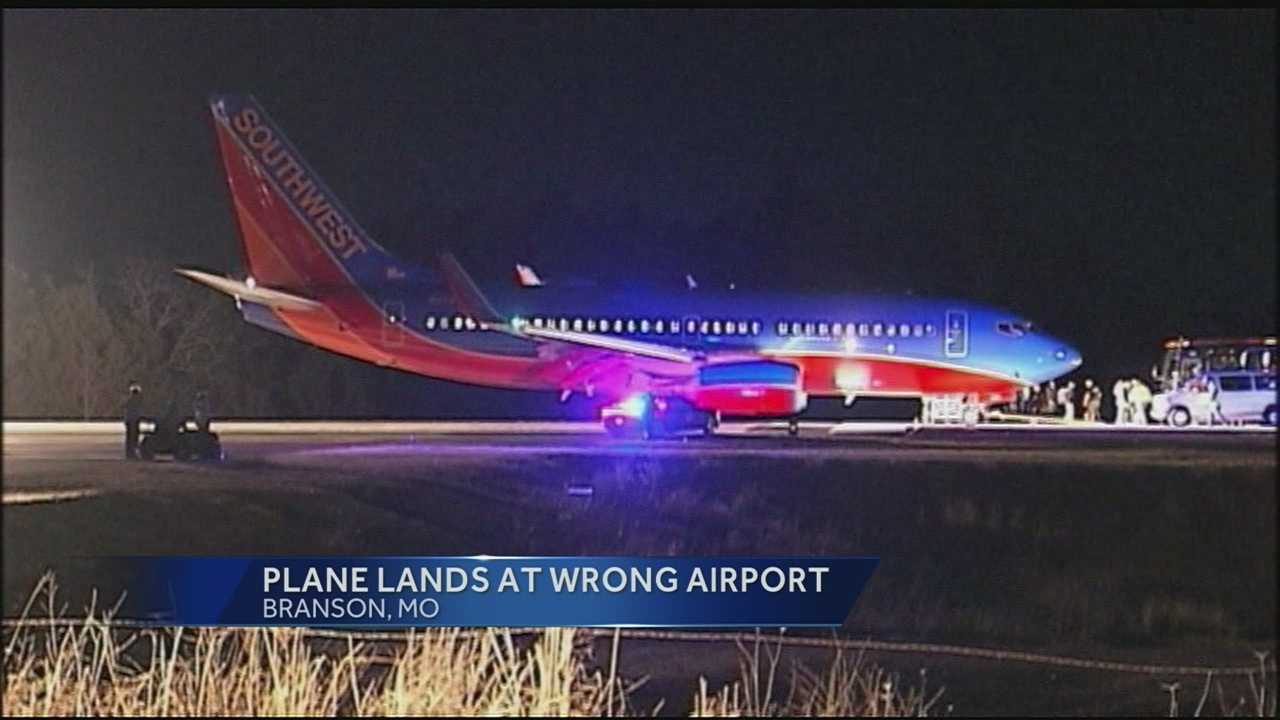 Federal officials are investigating why a Southwest Airlines plane that was supposed to land in Branson, Mo., landed at a different airport.