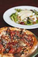 Sun-dried tomatoes, mushrooms, a sprinkle of parmigiana and what else?  You'll have to make a reservation for Restaurant Week and find out!  This shot from Spin! Neapolitan Pizza