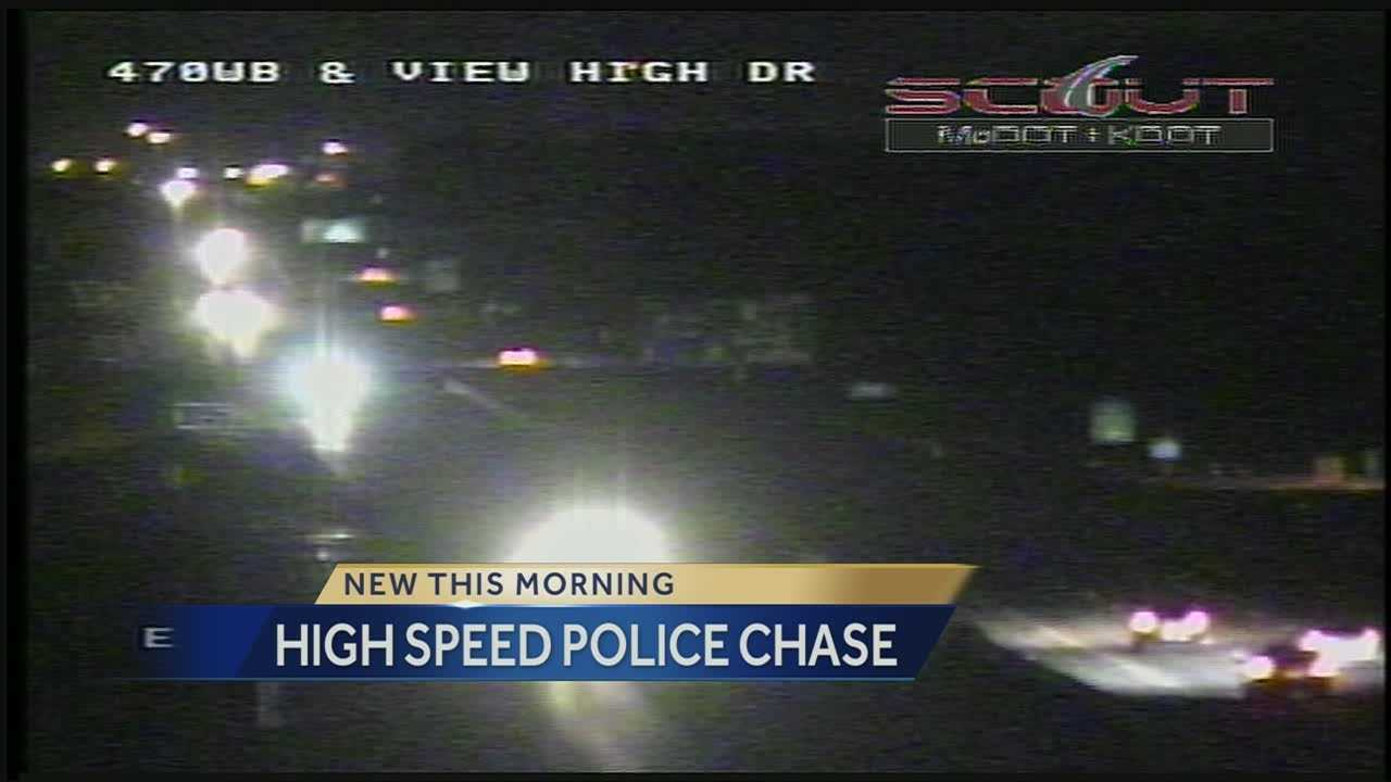 A high speed police chase overnight in Kansas City, Mo., ended in a spot you may not expect.