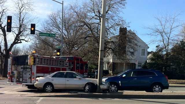 Image Fire Truck Crash scene