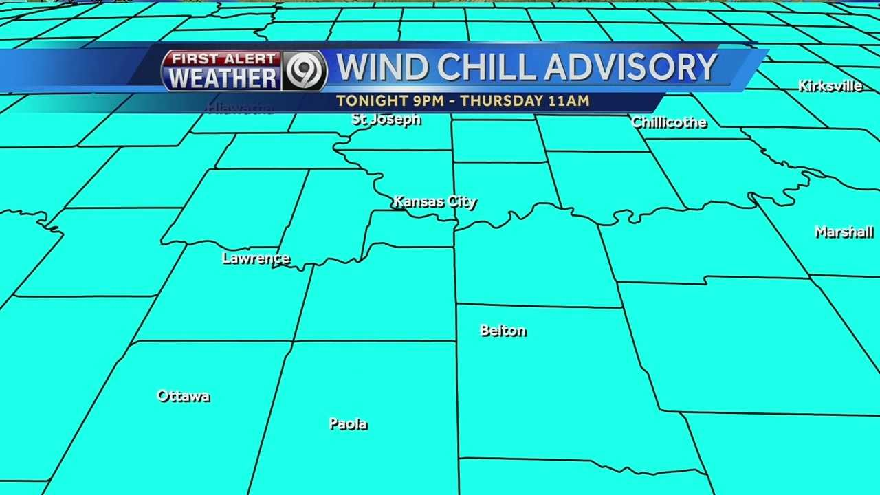 Wind chill advisory map
