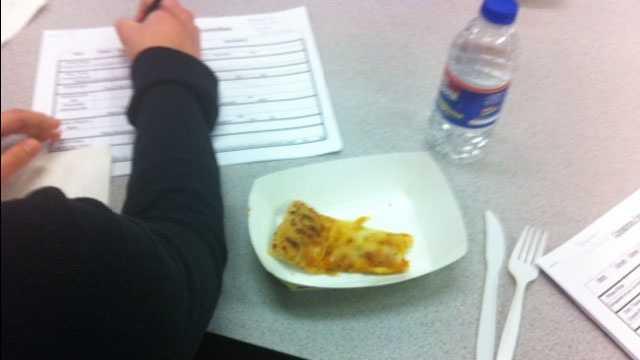 Image School lunch taste testing