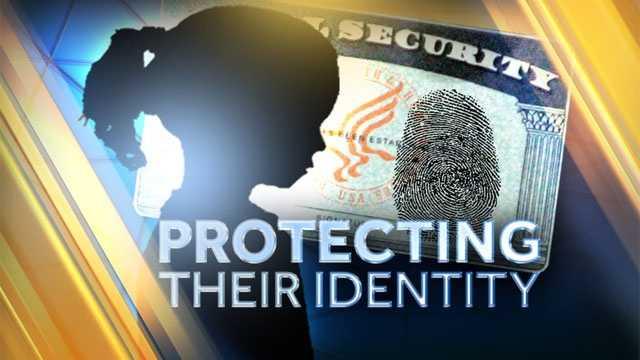 Image Child identity theft graphic