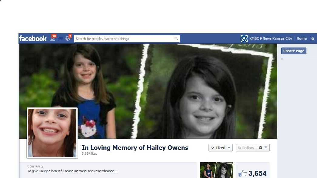 """This Facebook Group """"In Loving Memory of Hailey Owens"""" is one of many avenues people are sending thoughts and prayers."""